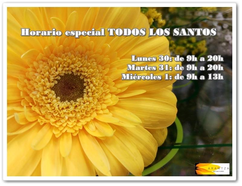 Horario Especial TODOS LOS SANTOS
